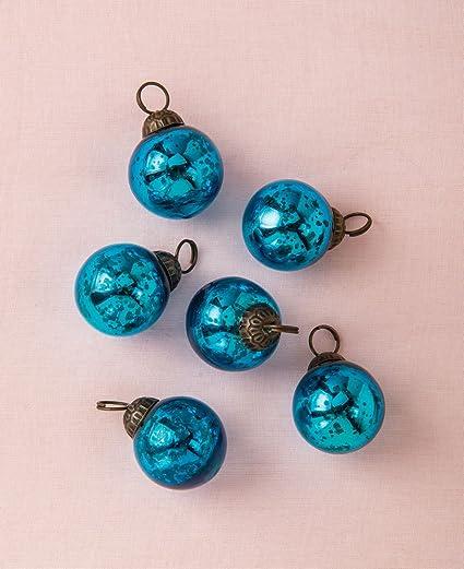luna bazaar mini mercury glass ornaments ava classic ball design 1 15 inches