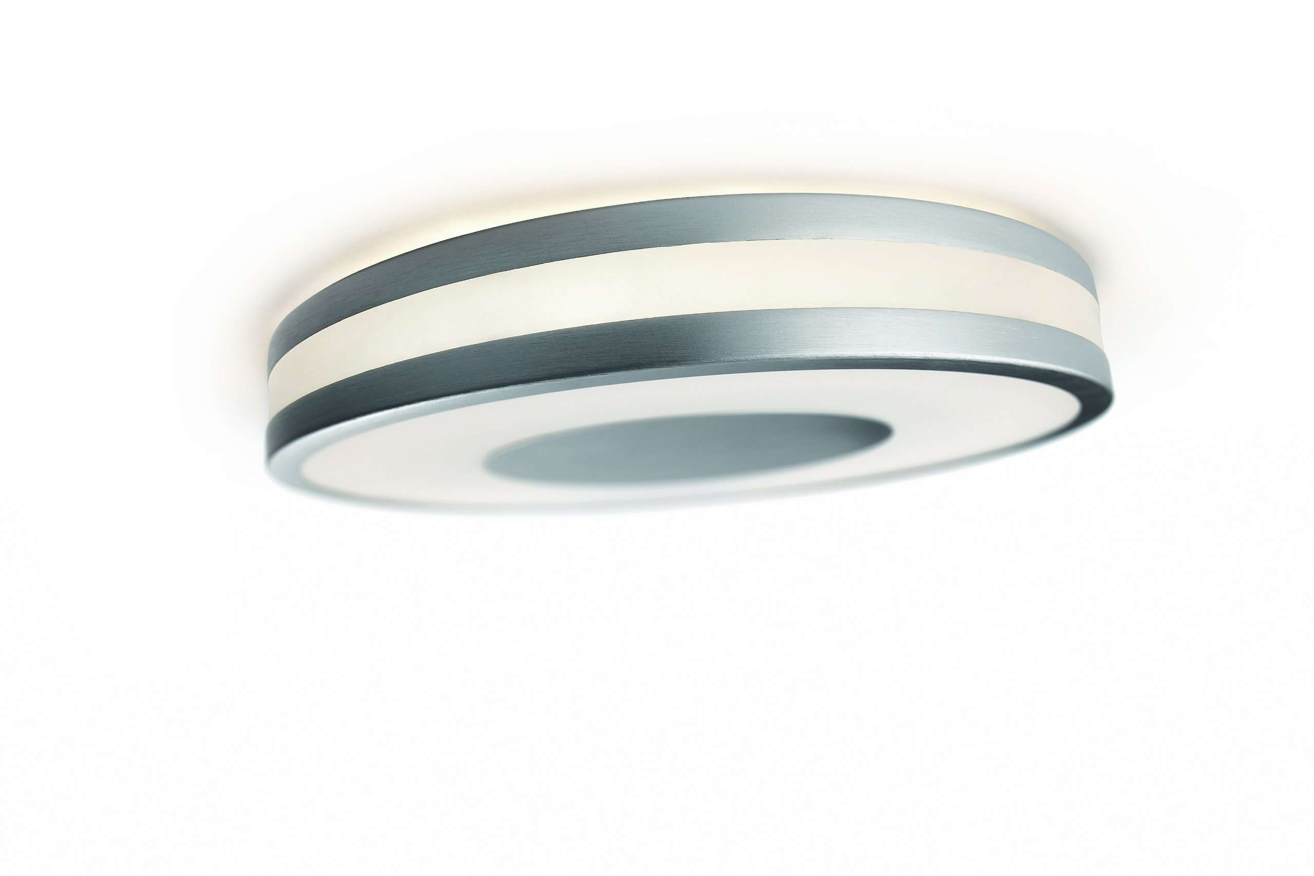 Philips 32610/48/48 Ecomoods Energy Efficient Wall or Ceiling Light with 2 Colored Diffusers, Aluminum
