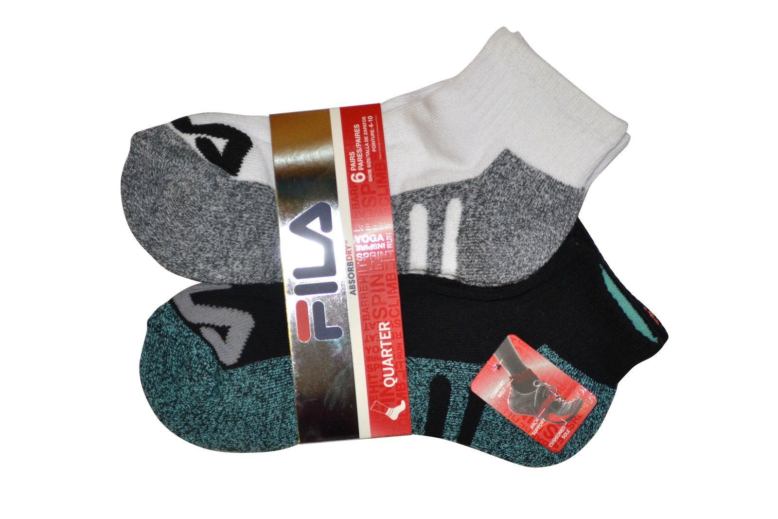 Fila Womens 6 Pack Athletic Socks
