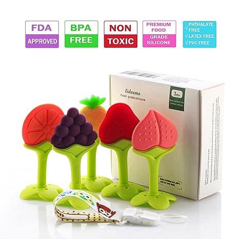 Amazon.com: Juguetes para dentición de bebé, de silicona ...