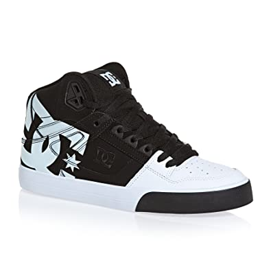 3c6d19606d DC Men's Pure Ht Wc Sp M Shoe Xkkw Black/White Leather Sneakers-5.5