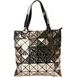 KAISIBO Unique Geometric Purse Laser Folding Tote Bag Handbags for Women