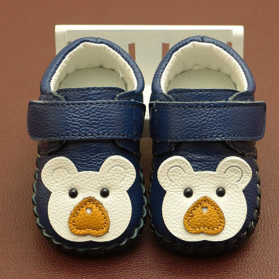 YIBLBOX Baby Non Slip Oxford Sole Cartoon Walking Slippers Crib Shoes Moccasins