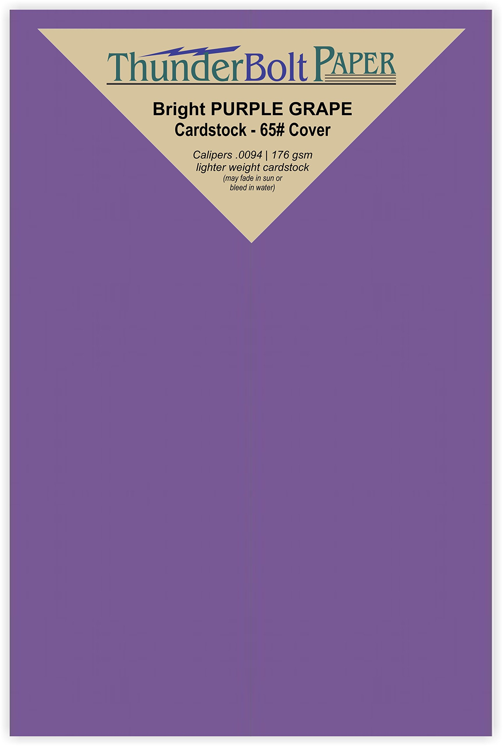 500 Bright Purple Grape 65# Cardstock Paper 3'' X 5'' (3X5 Inches) Index|Recipe Card|Photo|Frame Size - 65Cover/45Bond Light Weight Card Stock - Bright Printable Smooth Paper Surface
