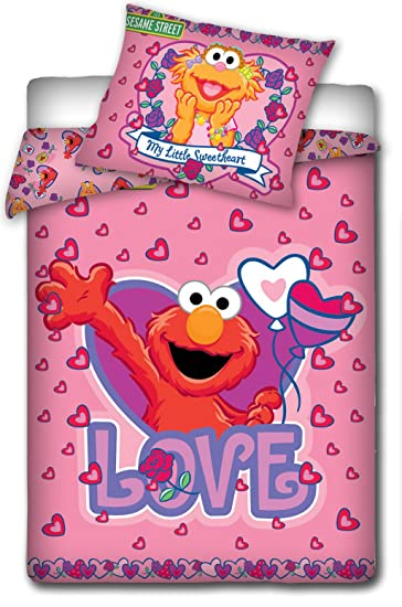 2 tlg Kinderbettw/äsche 100x135 40x60 Disney 529 Sesame Street