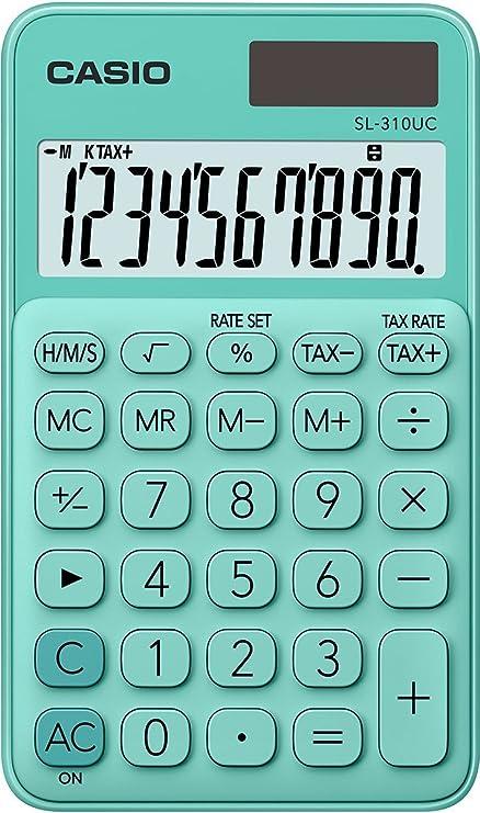 CASIO SL-310UC-GN - Calculadora, 0.8 x 7 x 11.8 cm, color Verde ...