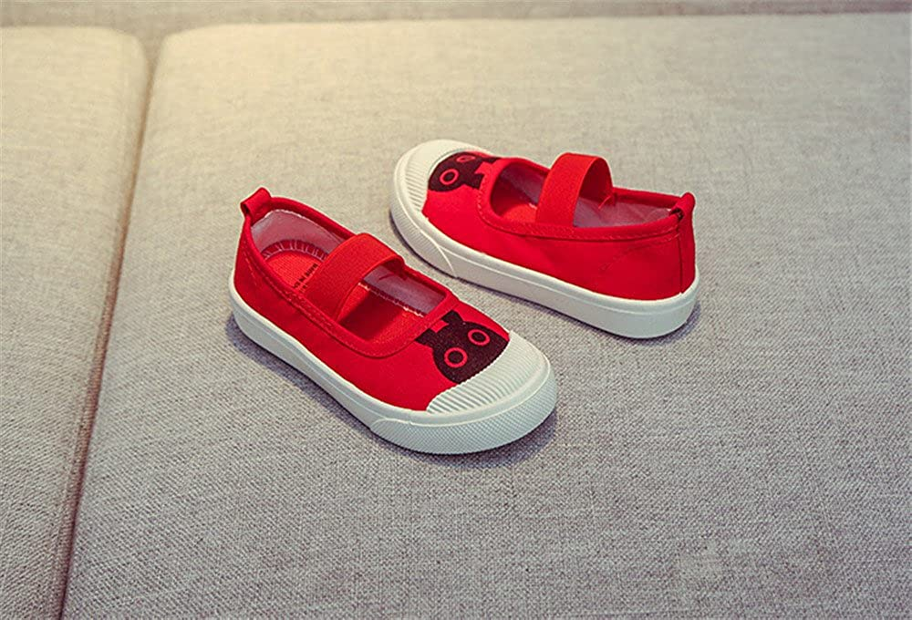Kid/'s Canvas Mary Jane Sneakers School Flat Shoes