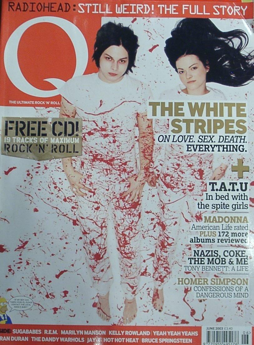 Q Magazine 203 (White Stripes cover) Amazon.com Books