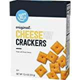 Amazon Brand - Happy Belly Original Cheese Crackers, 12.4 Ounce
