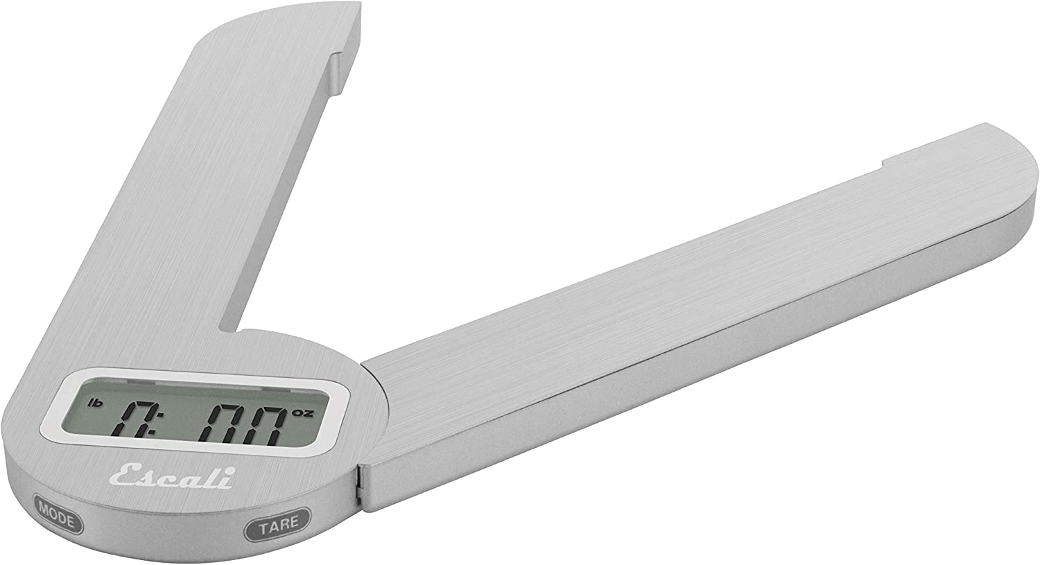 Escali Savu F115 Space Saving Folding Compact Kitchen Scale, Tare Functionality, 11lb Capacity, Stainless Steel