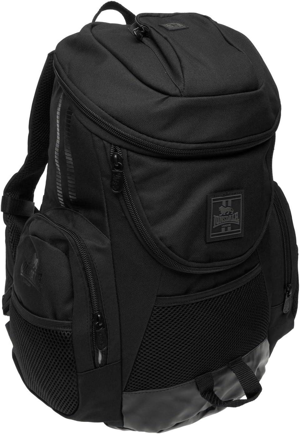 Lonsdale Niagara Sac /à Dos Noir Sac /à Dos Sac de Sport Gymbag Kitbag