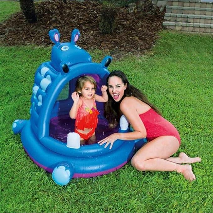 SUWIN Creativa Hippo Pool, para niños Piscina para niños, Piscina ...