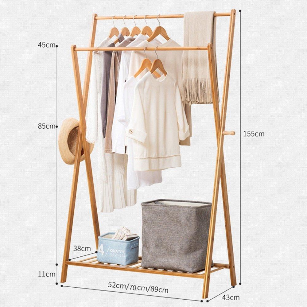 SEXY-Percheros Soporte de ropa de bambú, tamaño: 155 X 43X ...