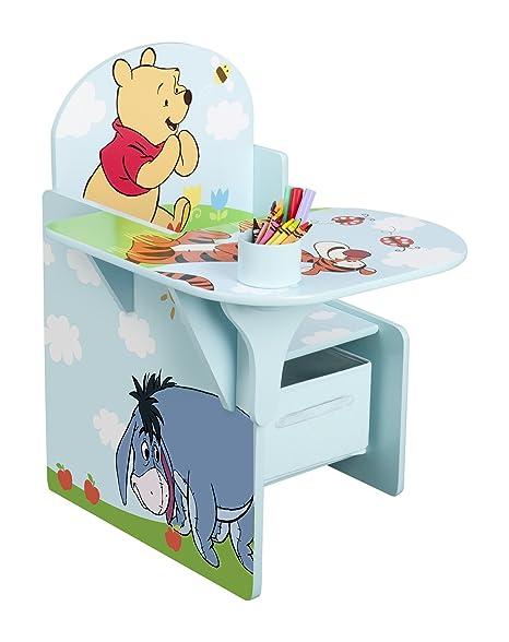 Delta Children Tc83928wp Winnie L Ourson Chaise Avec Tablette