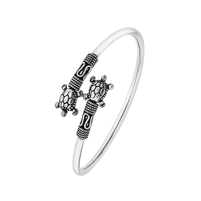 Ahilya Jewels .925 Sterling Silver Tortoise Kadaa for Women