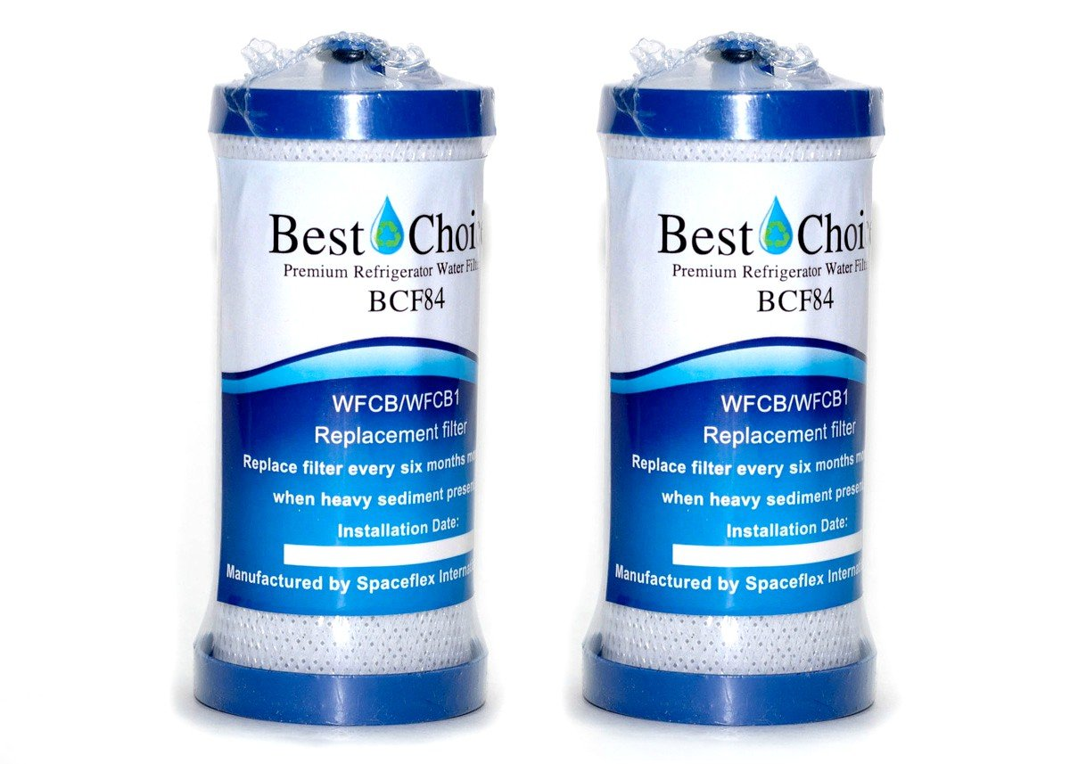 Frigidaire WF1CB Compatible By Best Choice Water Filters Certified Refrigerator Replacement Cartridge Fits Electrolux, Sears, WFCB, RG100, NGRG2000, Kenmore 9910 (2-Pack)