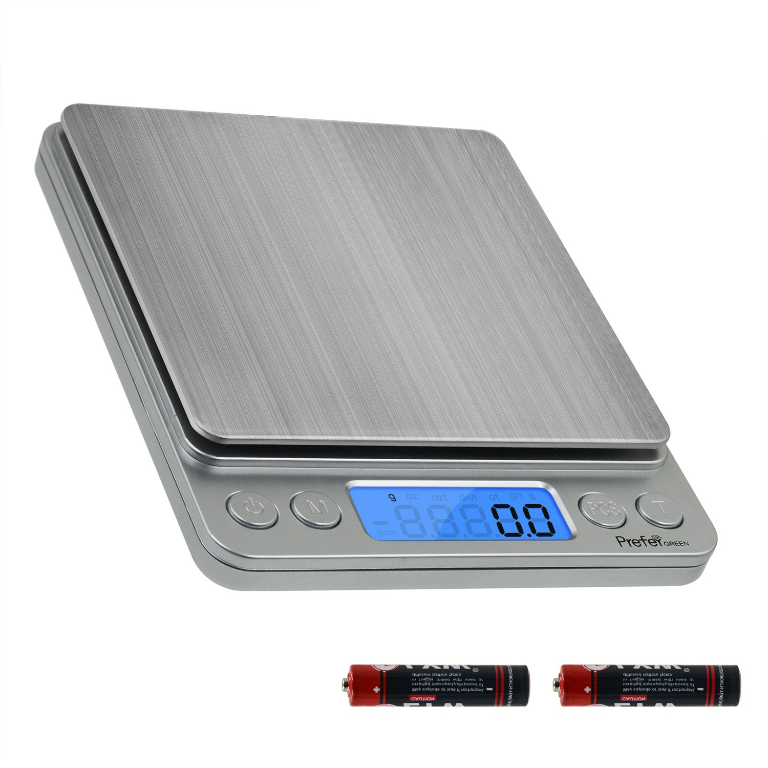 Prefer green digital kitchen scale 3000g 0 01oz 0 1g pocket cooking scale mini food scalejewelry scale stainless steel batteries included 3000g 0 1g