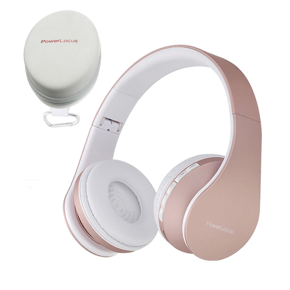 Reviews Summary Pros Cons Powerlocus Wireless Bluetooth Over Ear Stereo Foldable Headphones Wired Headsets With Built In Microphone For Iphone Samsung Lg Ipad Rose Gold