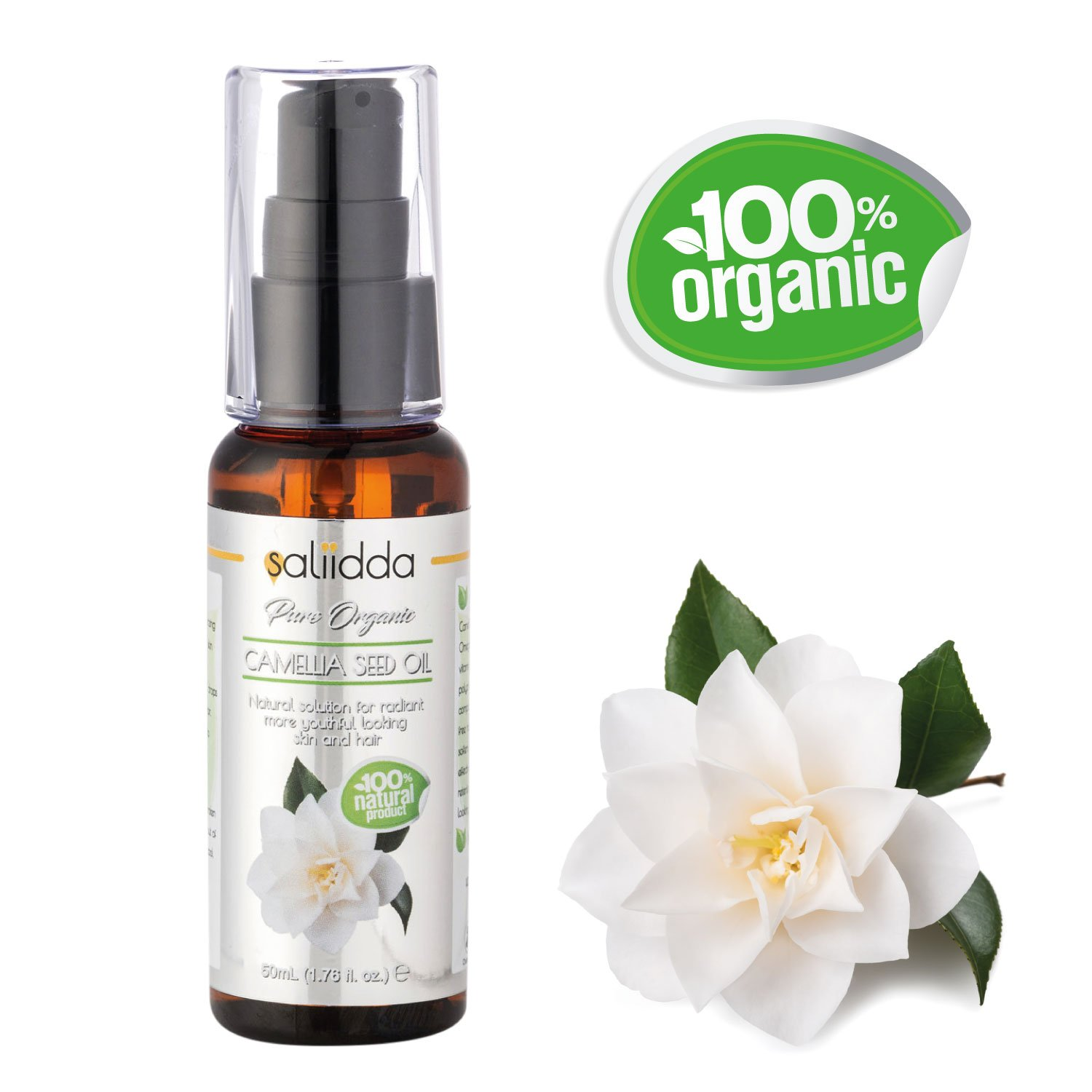 100% Pure ORGANIC CAMELLIA Seed Oil - 100% Natural - Solution For Radiant Youthful Skin Coils Media Ltd