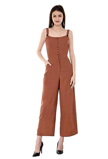 lovely luster competitive price official shop V&M Rust Color Crepe Designer Front Open Shoulder Strap ...