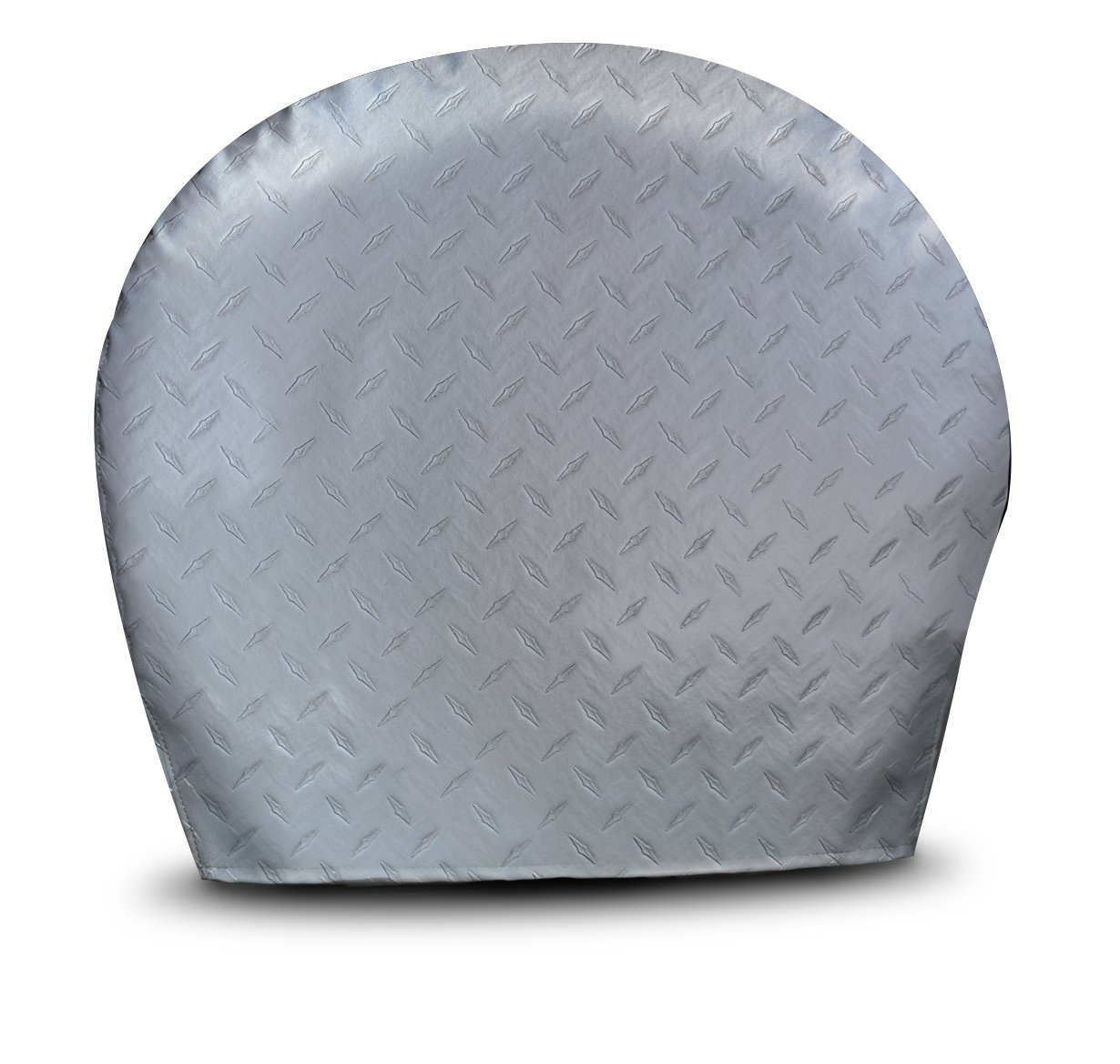 ADCO 3756 Silver OS Diamond Plated Steel Vinyl Tyre Gard Wheel Cover, (Set of 2) (Fits 43''-45'') by ADCO