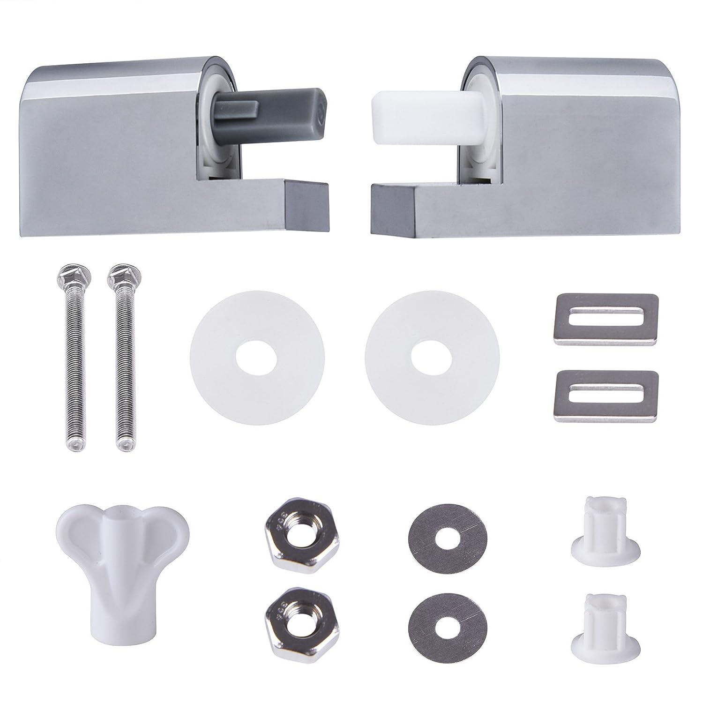 Deuba Sedile WC chiusura ammortizzata copriwater cerniere ABS Duroplast con Materiale di montaggio