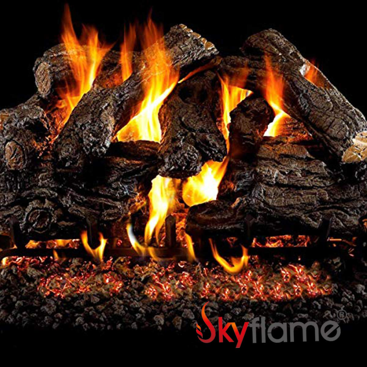 Skyflame Glowing Embers Rock Wool for Vent Free and Vented Gas Fireplaces, 6 Oz by Skyflame