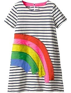 fa48f87d758 Amazon.com  Zebra Fish Girls Cotton Cute Long sleeve Casual Dresses ...
