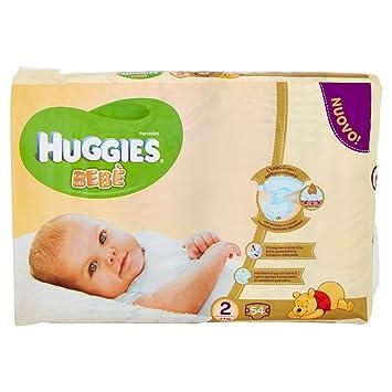 Huggies - Bebè - Pañales - Talla 2 (3-6 kg) - 56 pañales: Amazon.es: Salud y cuidado personal