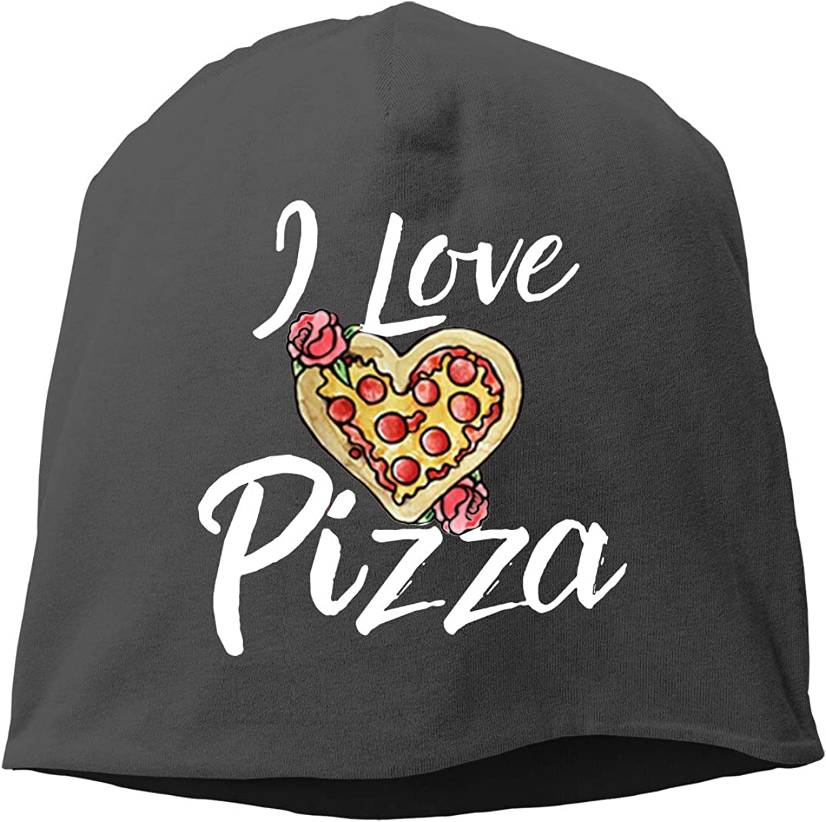 I Love Pizza Unisex Knitted Hat Beanie Hat Warm Hats Skull Cap