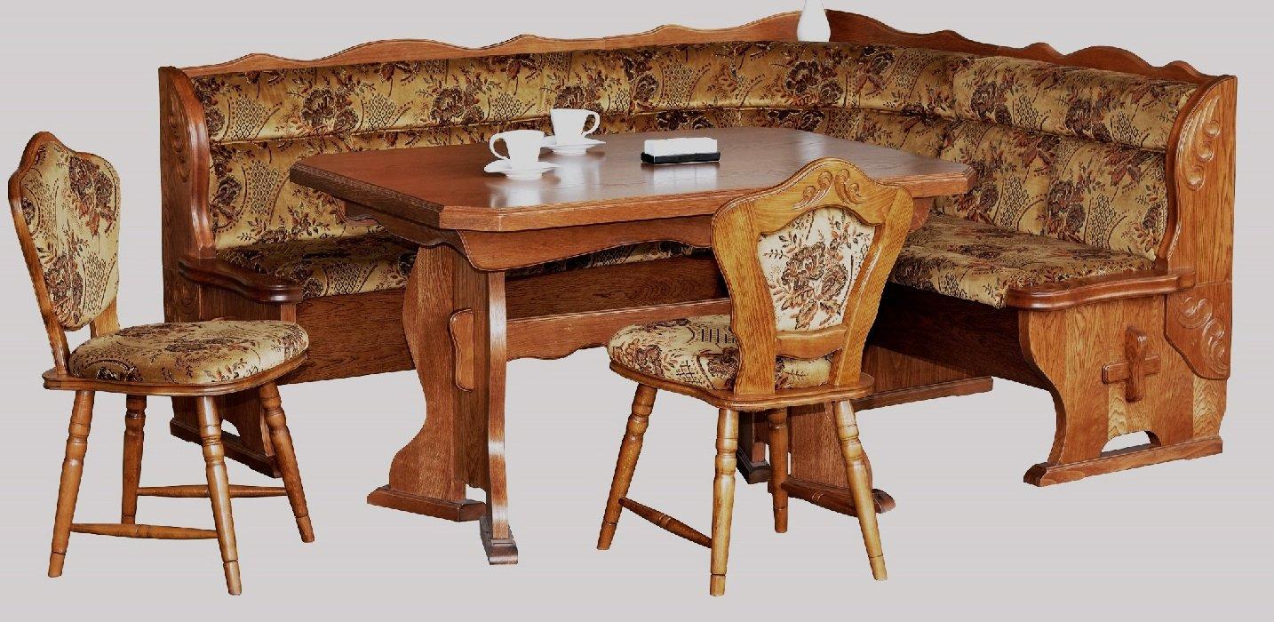 Esstisch eiche rustikal  4-4-3-2184: Kücheneckbank, ausziehbarer Tisch, 2 Stühle ...
