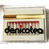 Soporte de cigarrillos Denicotea Lady Blanco con eyector No 20203–+ 10Filtros