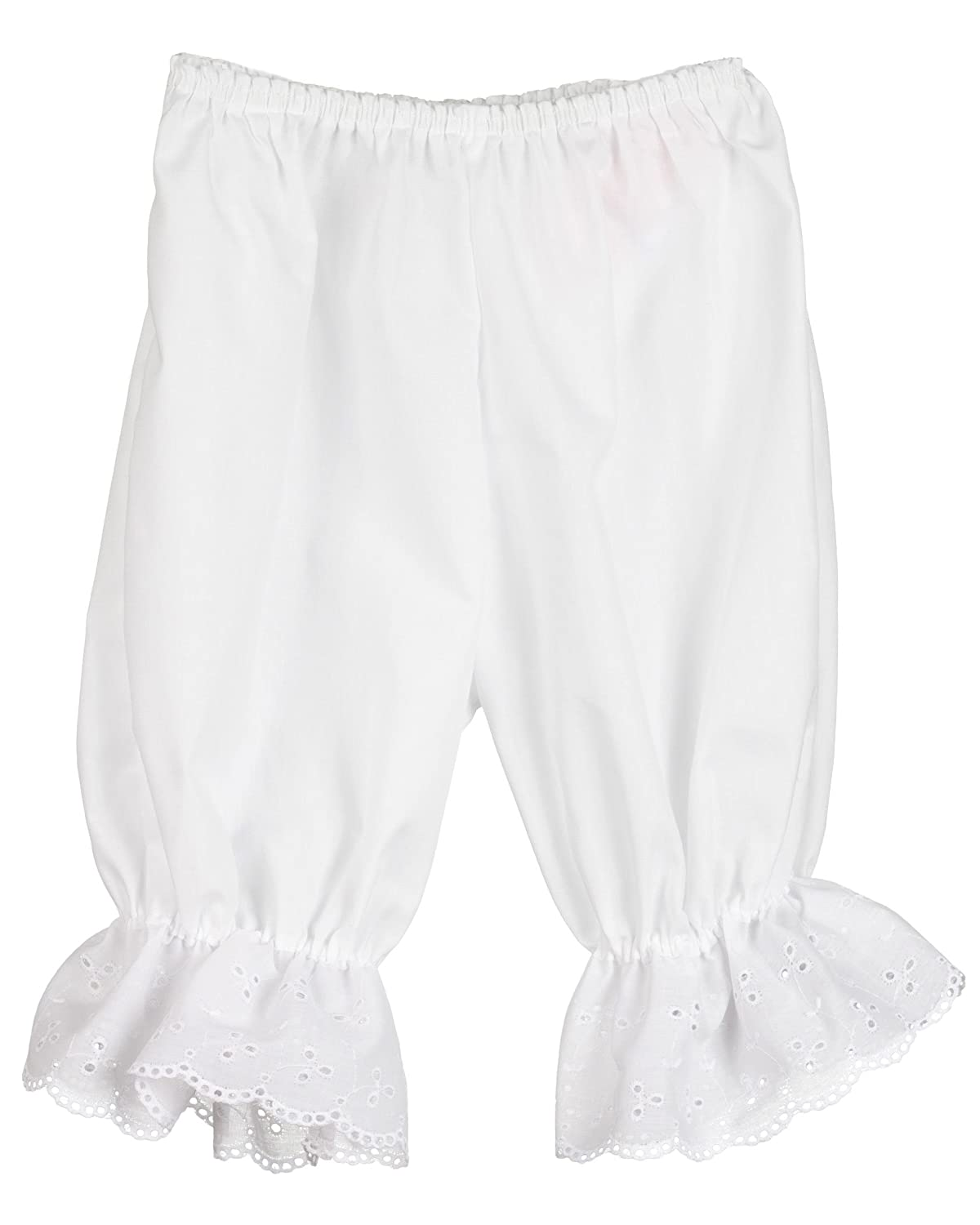 Little Zazzy Baby Girls White Pantaloon Pettipants Bloomer Under-pants 623501-WHA