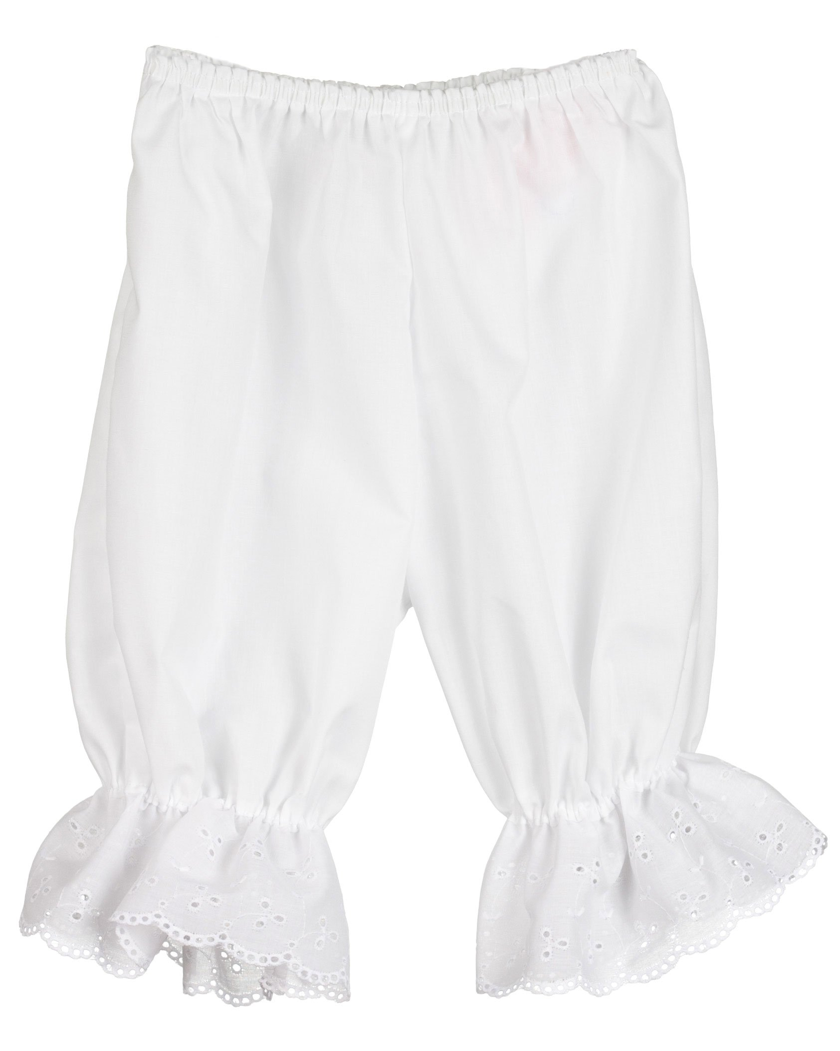 Little Zazzy Little Girls White Pantaloon Pettipants Bloomer Under-pants 3T