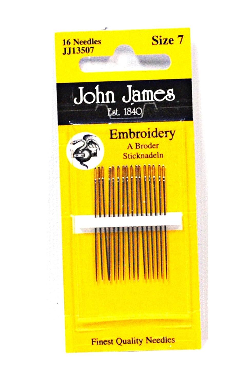 John James Size 7 Embroidery Needles 333302486