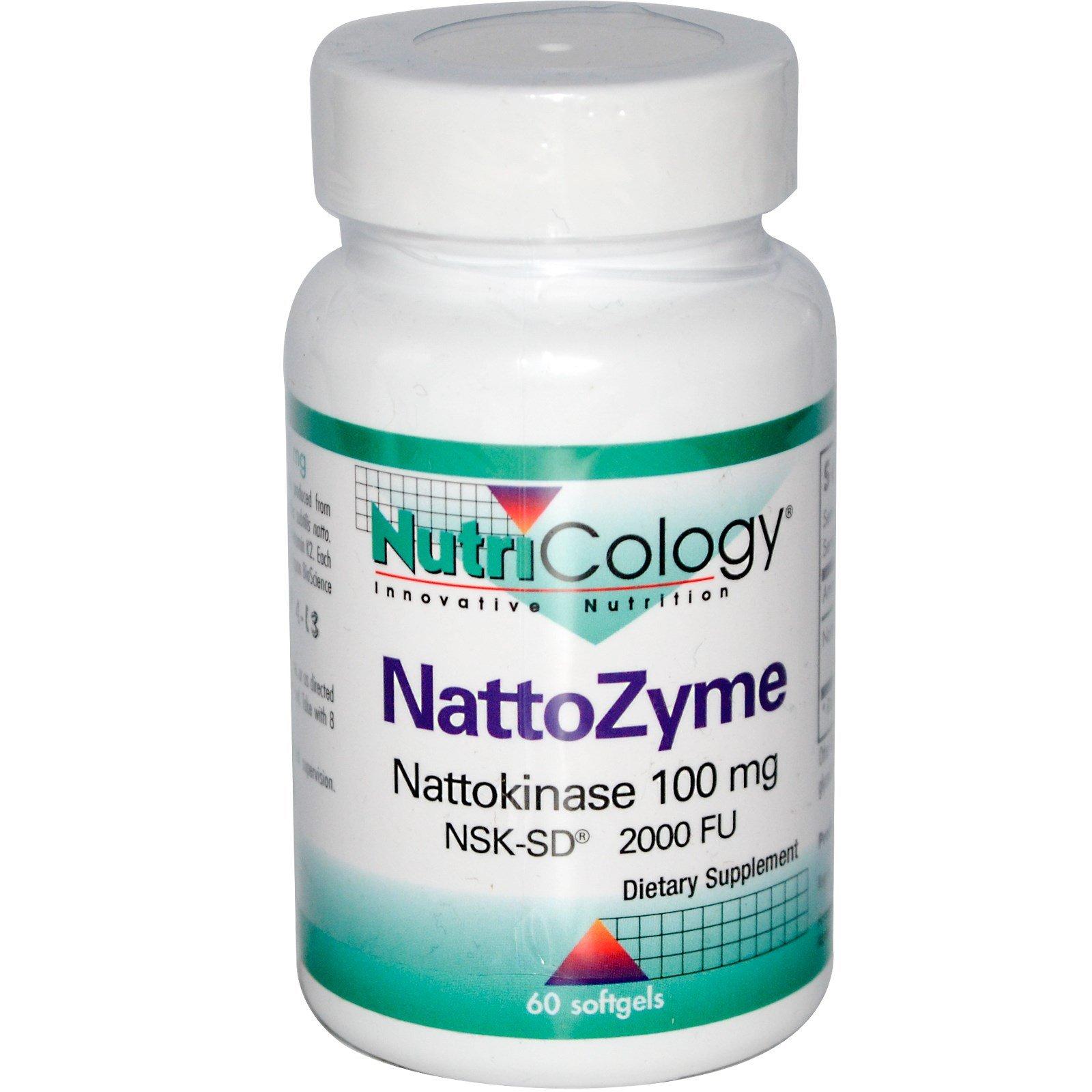 Nutricology, NattoZyme, Nattokinase, 100 mg, 60 Softgels - 3PC