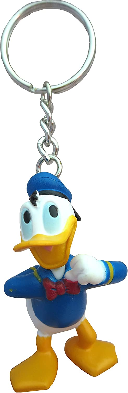 Disney Donald Figural PVC Keyring,Multicolor
