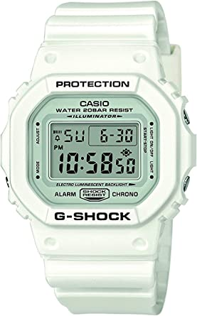 Casio G-SHOCK Reloj Digital, 20 BAR, Blanco, para Hombre, DW-5600MW-7ER: Amazon.es: Relojes