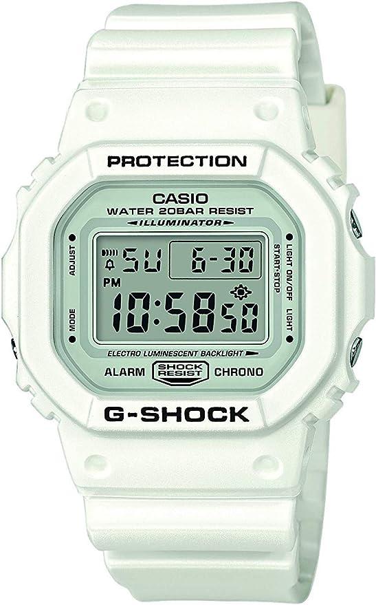 Casio G-SHOCK Reloj Digital, 20 BAR, Blanco, para Hombre, DW ...