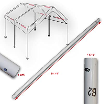"Cross Brace Pole 58 3/4"" for 10' X 20' Caravan Canopy Domain Carport Garage Parts B2 : Garden & Outdoor"