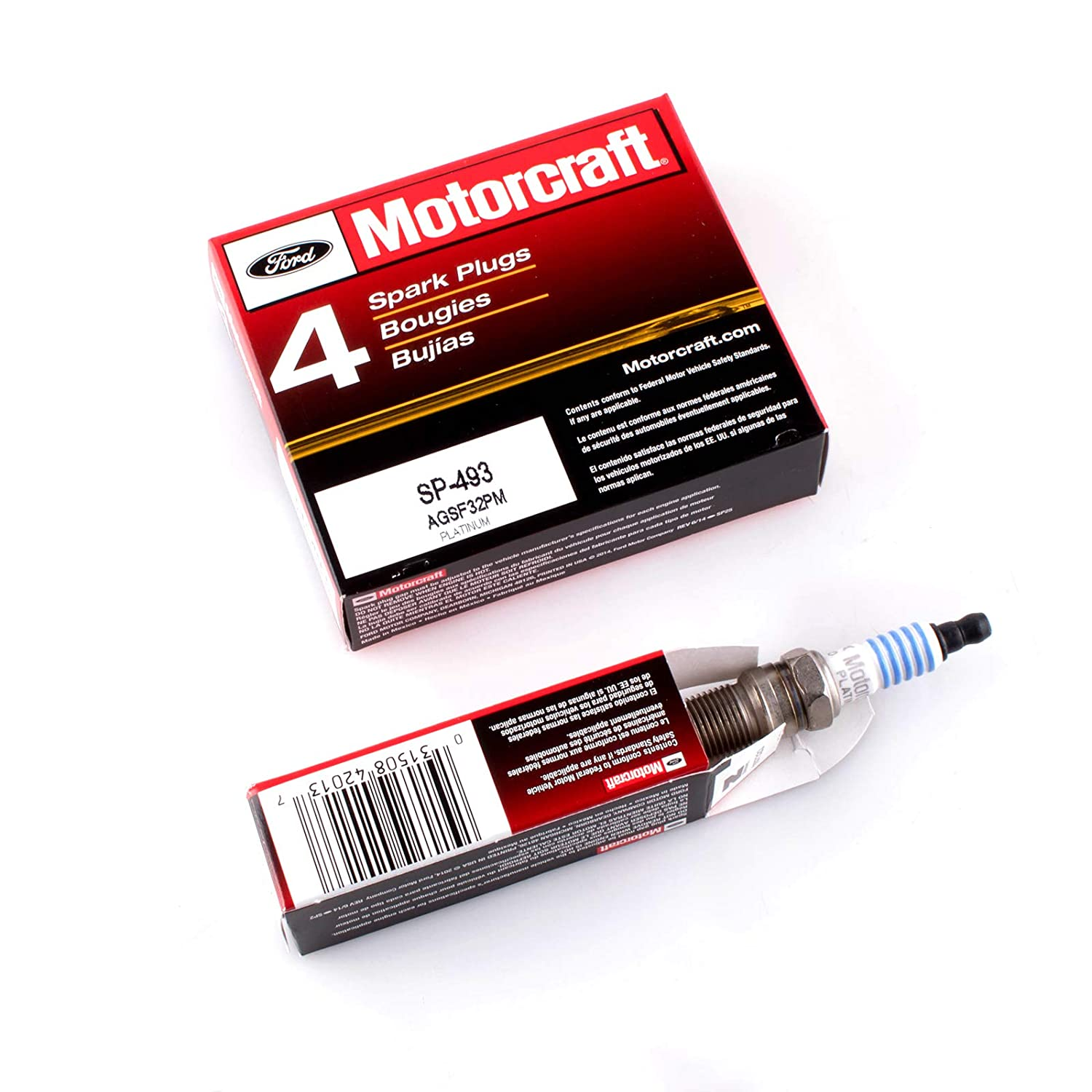 Amazon.com: Motorcraft Spark Plugs SP493 AGSF32PM Platinum and MAS Ignition Coils for Ford Escape Taurus Mazda Tribute Mercury 3.0 V6 DG513 DG500 FD502(pack ...
