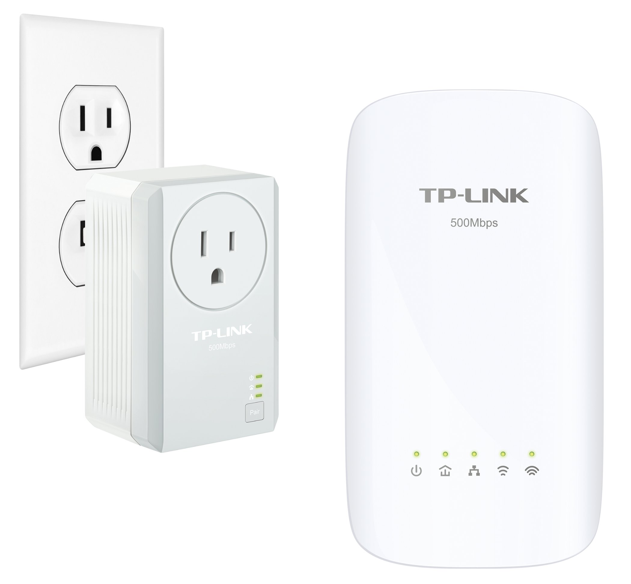 TP-Link AC750  Powerline Gigabit Wi-Fi Kit , 2-Kit (AC750) by TP-Link