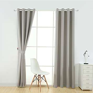 Curtains Ideas buy insulated curtains : Amazon.com: YOJA Thermal Insulated Window Treatment Blackout ...