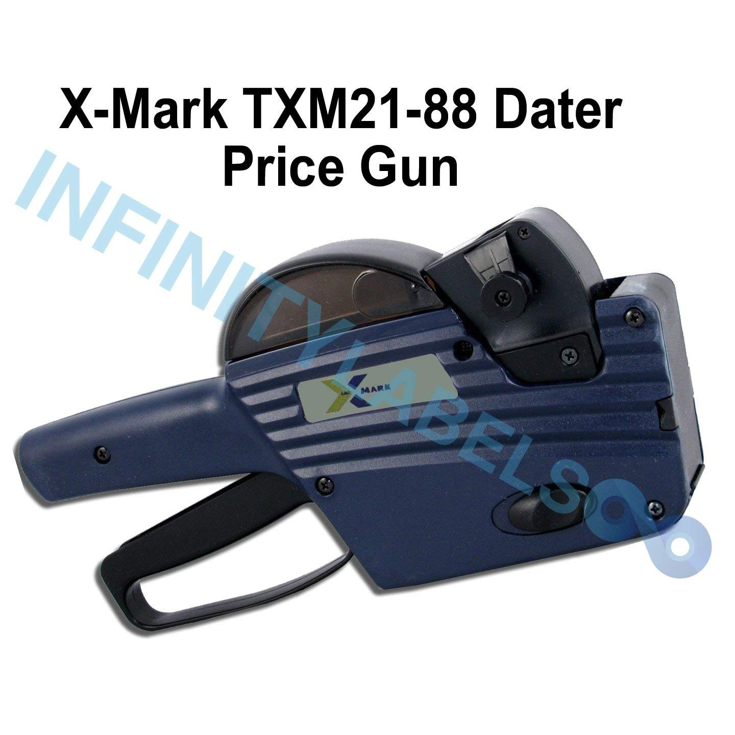X-Mark Price Gun: TXM21-88DATER [2 Line / 8/8 Characters] by Infinity Labels
