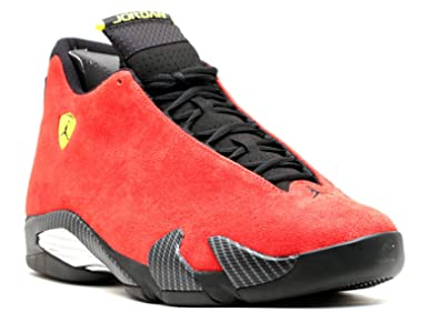 12e7964215efe6 Jordan Air 14 Retro Ferrari Men s Shoes Challenge Red Vibrant Yellow  Anthracite Black