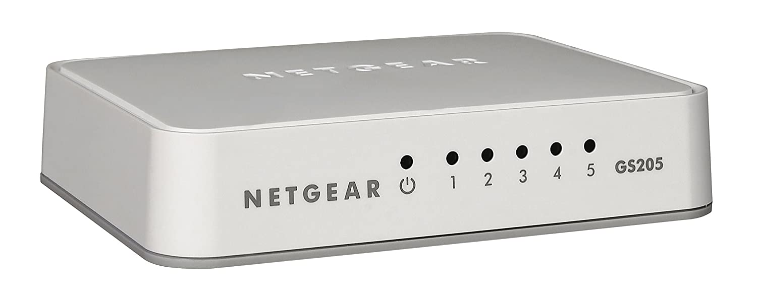 Netgear Gs205 100uks 5 Port Gigabit Ethernet Desktop Switch Amazon Jumbo Power Saver Circuit Diagram Electricity Saving Devices For Homes Computers Accessories