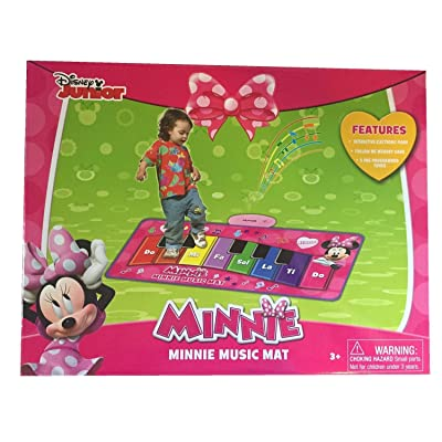 Disney Minnie's Music Mat Electronic Piano (packaging may vary): Toys & Games