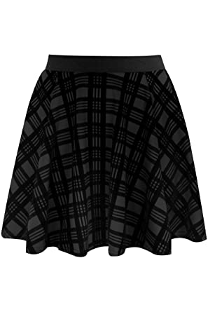 467f42a51feba Yours Clothing Women s Plus Size Limited Collection Checked Mini Skater  Skirt Size 16 Black