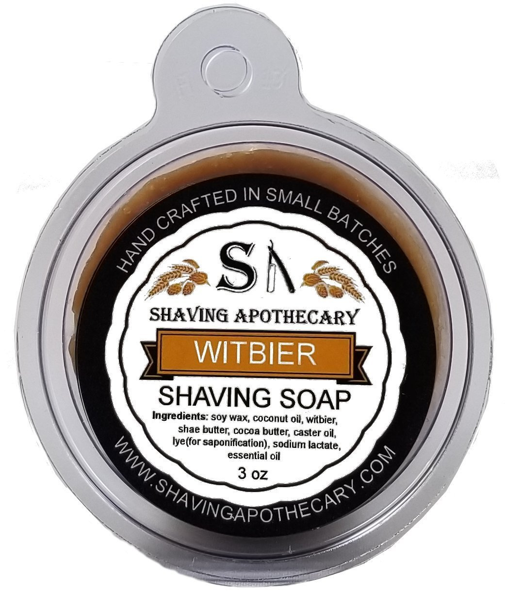 Shaving Apothecary shaving soap - Witbier with real beer
