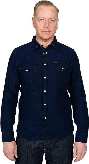 Lee 101 Western Shirt Bright Navy -XL: Amazon.es: Ropa y accesorios